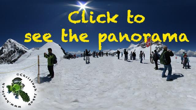 Panorama Schneeterasse Jungfraujoch